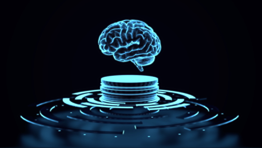 AI Brain Concept. Artificial Intelligence Royalty-Free Stock Footage #1062099751