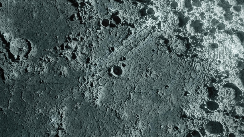 Textured surface of the moon close-up in motion. 3d animation. Elements of this image furnished by NASA | Shutterstock HD Video #1062102208