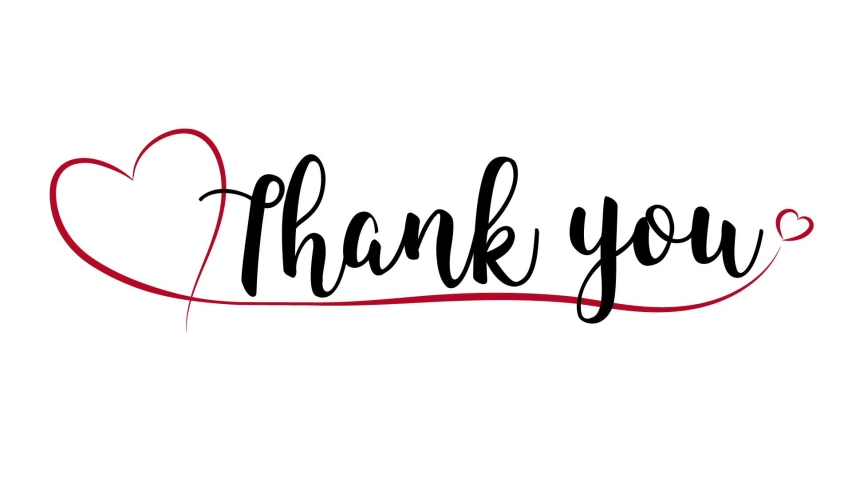 Thank you animation with red heart Royalty-Free Stock Footage #1062115600
