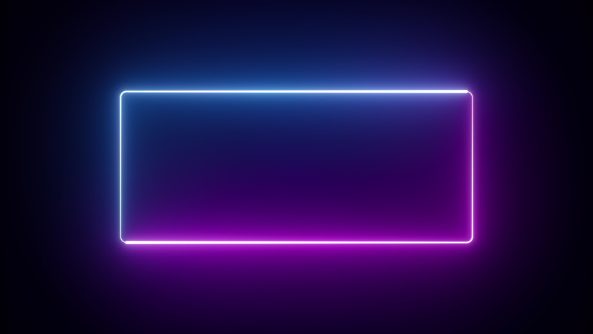 Abstract seamless background blue purple spectrum looped animation 4k glowing neon line Abstract background web neon box pattern LED screens projection technology #1062133492