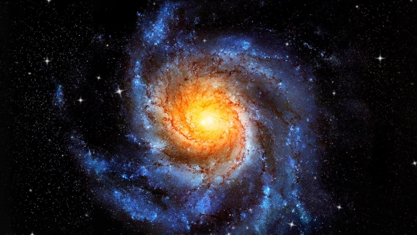 Spiral Galaxy Rotation Loop With Millions Of Stars - 4K Rotating Spiral Galaxy, Deep Space Exploration, Birth Of A Galaxy. Rotating Spiral Galaxy on Space Background 4K 3D abstract animation. | Shutterstock HD Video #1062159889