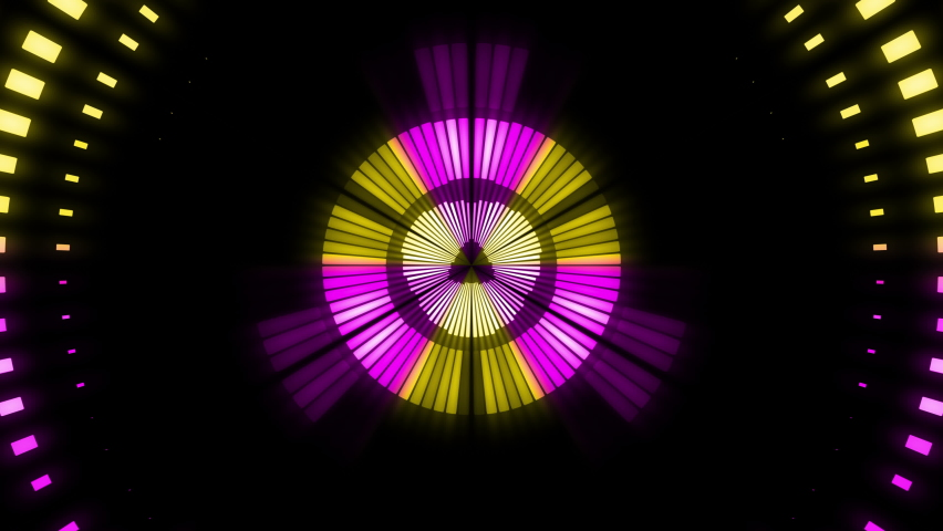 4k colorful abstract background dance floor several shining Stage lights 4k Floodlights shining brightly turning on-off Floodlight Lights kaleidoscope 4k Wall Lights Bulb Halogen Headlamp Lamp Night Royalty-Free Stock Footage #1062166642
