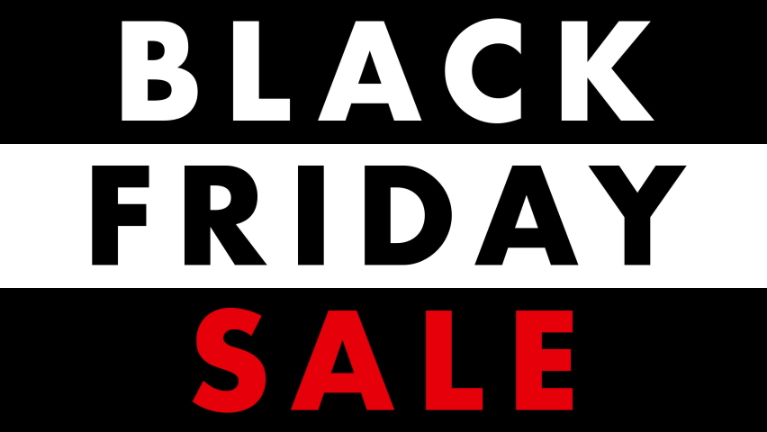 Black Friday Sale text animation, on black white and red backgrounds  Royalty-Free Stock Footage #1062197677