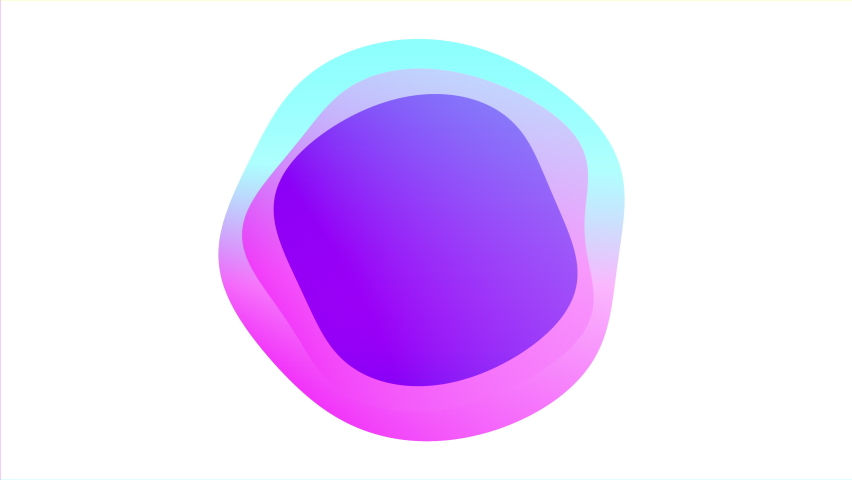 Liquid frame animation, colourful abstract spheres isolated on a white background | Shutterstock HD Video #1062200293