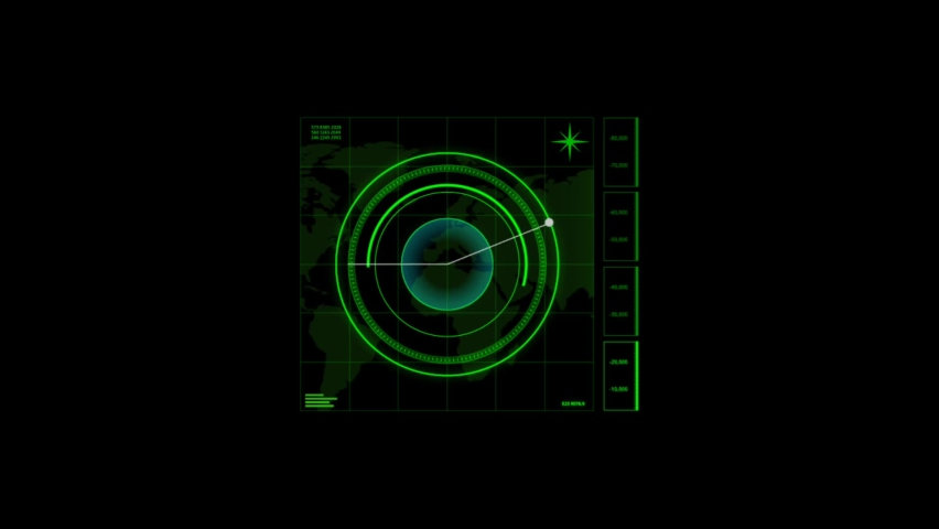 HUD element - futuristic loading pending screen, loopable parts, alpha mask included - motion graphic #1062208849