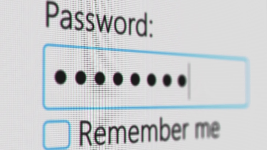 Password Entry. Someone entering their password on a computer screen. Log in to your account. Typing password on Login page Royalty-Free Stock Footage #1062224287