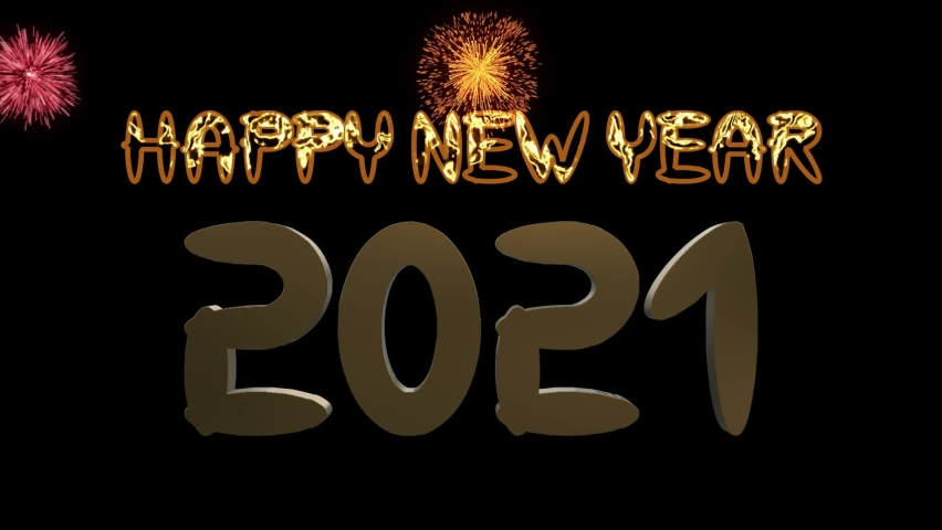New Year 2021 Gold Animation
