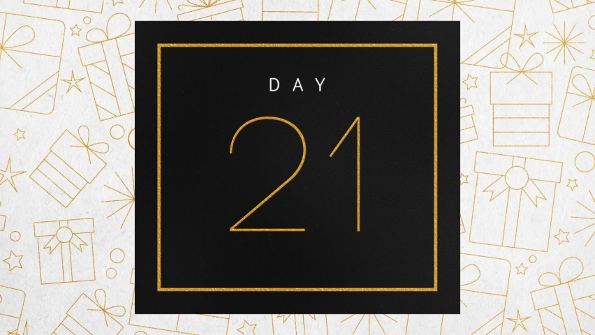 Elegant Christmas Advent Calendar Black and Gold Foil Number Reveals. 24 Illustrated Motion Graphics Animate Open to Reveal Chroma Green Screen. Royalty-Free Stock Footage #1062319270