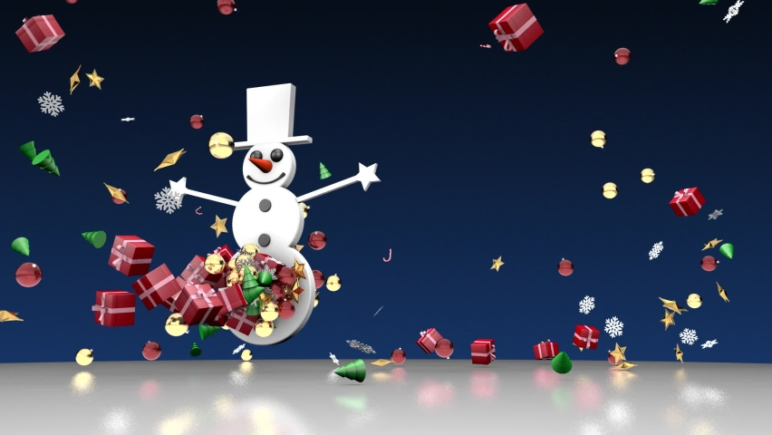 Snowman Merry Christmas Animation Background | Shutterstock HD Video #1062342211