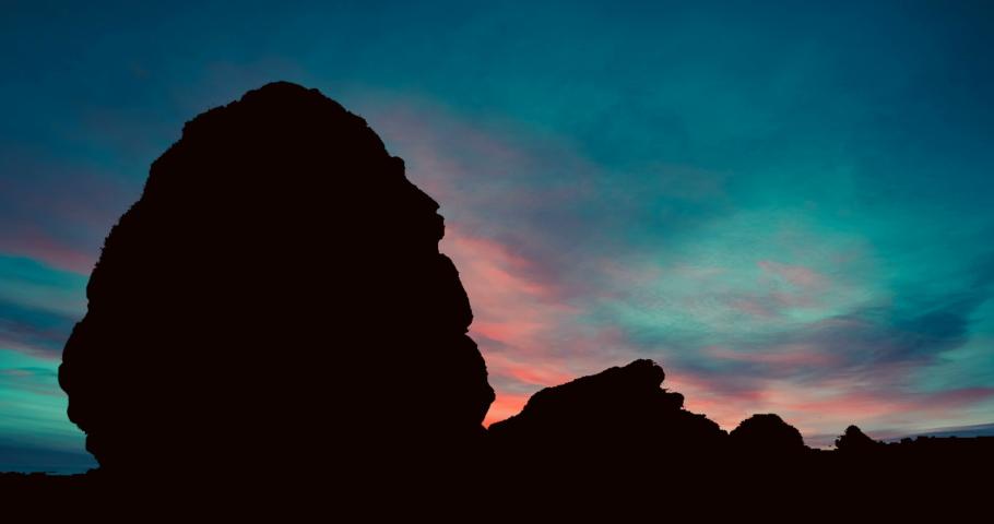 Madain Saleh Petra Saudi Arabia Red Sky at Dusk Timelapse