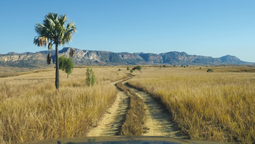 POV Driving Off-Road, Isalo National, Park, Madagascar | Shutterstock HD Video #1062363232