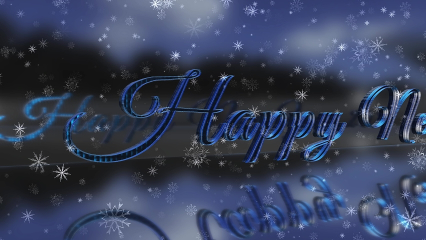 Happy New Year 2021 3d background new year resolution concept.Glowing, blinking 2021 text. Happy 2021 new year banner. 2021 new year sign. 4K Animation. Royalty-Free Stock Footage #1062394720