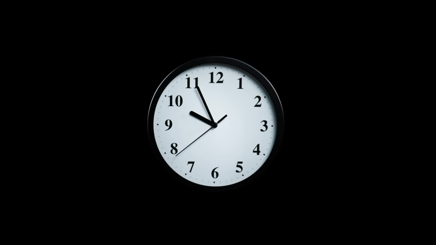 Slowly approaching a wall clock on a black background | Shutterstock HD Video #1062400309