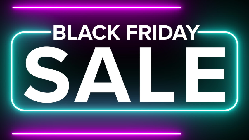 black friday shopping black glowing symbol glow sale black friday sale Royalty-Free Stock Footage #1062428458