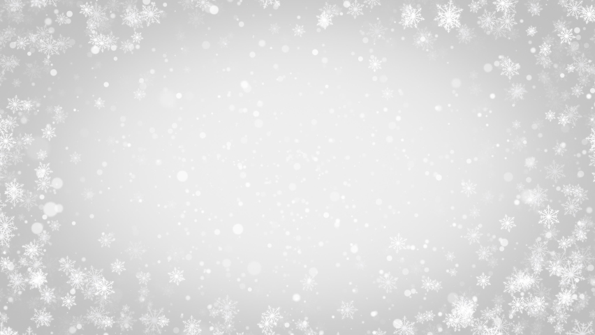Elegant silver abstract particles with snowflakes. Christmas animated grey background. Background white glitter - winter theme. Seamless loop. Royalty-Free Stock Footage #1062431899