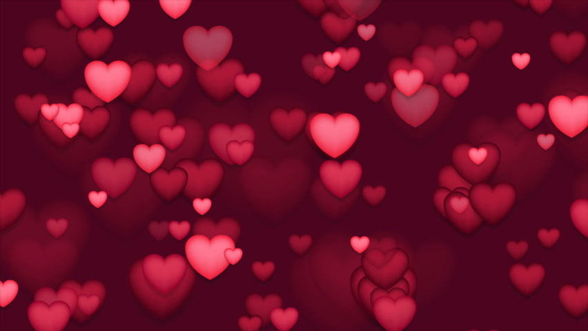 Red and pink hearts abstract St Valentines Day motion background. Seamless looping. Video animation Ultra HD 4K 3840x2160 | Shutterstock HD Video #1062485689