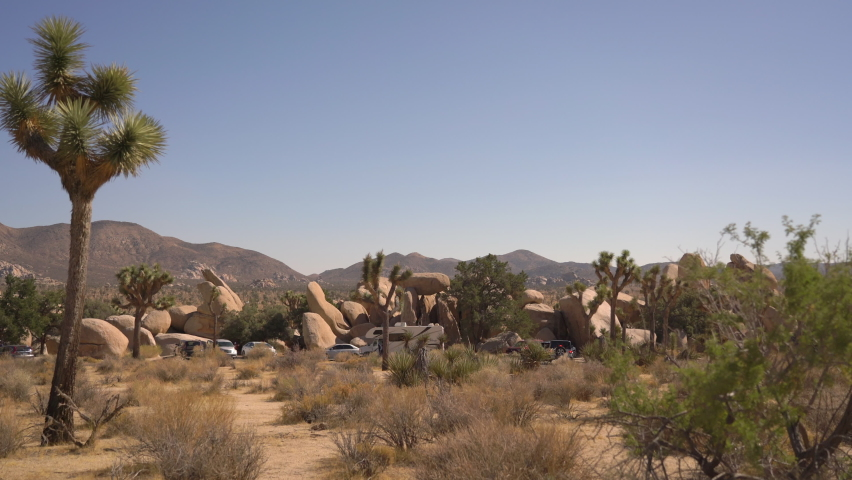 Joshua Tree National Park Hidden Valley Parking Mojave Desert California USA