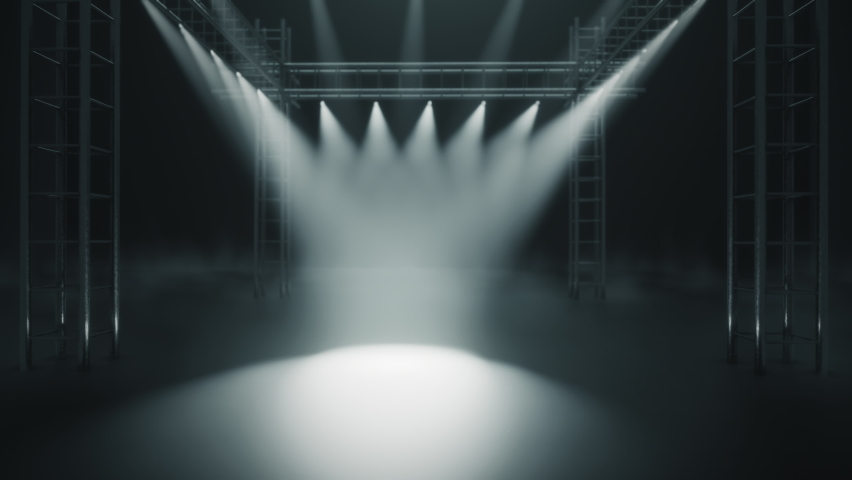 Stage with Lights and Smoke Creative Backround Royalty-Free Stock Footage #1062603148