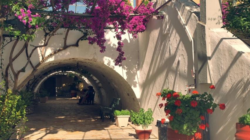 Monastery Paleokastritsa bell tower Corfu Island, Greece   Shutterstock HD Video #1062629311