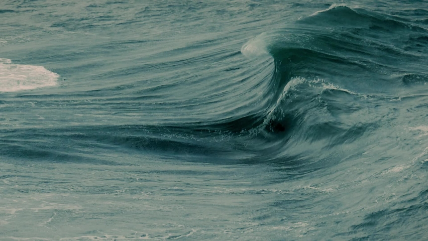Wave Crashing Slow Motion On Rocks Royalty-Free Stock Footage #1062634906