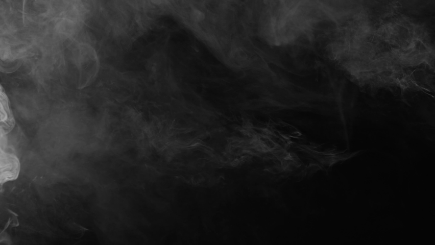 Soft Fog in Slow Motion on Dark Backdrop. Realistic Atmospheric Gray Smoke on Black Background. White Fume Slowly Floating Rises Up. Abstract Haze Cloud. Animation Mist Effect. Smoke   Shutterstock HD Video #1062665407