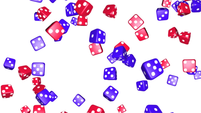 Blue and Red Casino Chips Rolling Rotating on White background. Falling Dice Seamless loop 3D Alpha Green Screen. Casino, Gambling, Chips, Jackpot, Poker, Las Vegas, Game, Money, Roll, Cube, Betting, | Shutterstock HD Video #1062672349