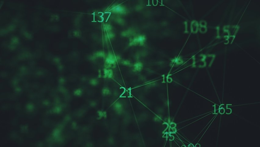 Animation of Network Connection Numbers 4k Royalty-Free Stock Footage #1062724303