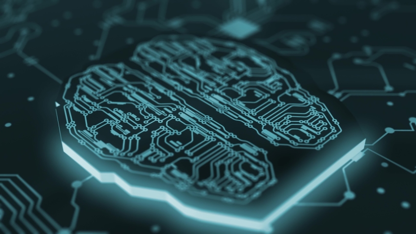 Digital Brain Artificial Intelligence Network Connection 01 4K Royalty-Free Stock Footage #1062728761
