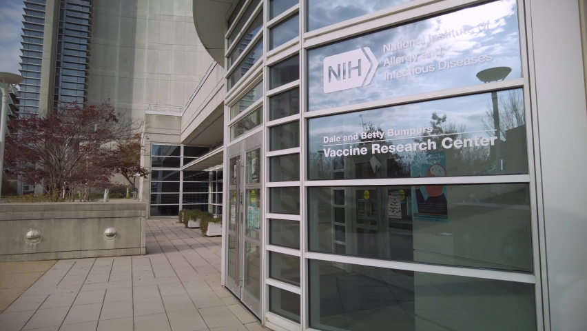 Bethesda, MD, USA 11/21/2020: Dale and Betty Bumpers Vaccine Research Center of National Institutes of Health is a world leader in vaccine development including pioneering work in COVID 19 vaccine