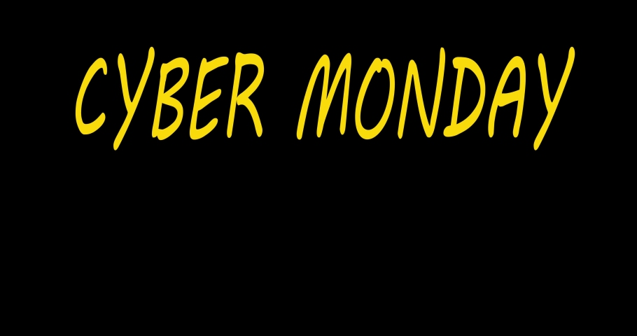 Cyber monday neon. Cyber monday sale concept animation