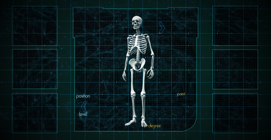 Digital graphic scan human spine focus trigger point and have particle relieve painful in futuristic concept with 3d rendering. Royalty-Free Stock Footage #1062757345