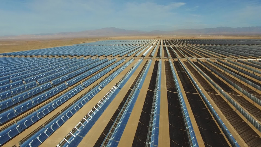 Ouarzazate Solar Power Station, also called Noor Power Station Morocco | Shutterstock HD Video #1062779008
