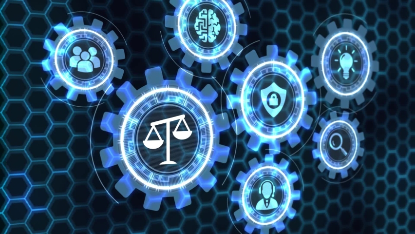 Business, Technology, Internet and network concept. Labor law, Lawyer, Attorney at law, Legal advice concept on virtual screen. Royalty-Free Stock Footage #1062784684