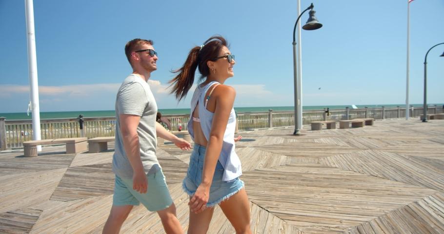 Cute Couple at Myrtle Beach Boardwalk, Skywheel