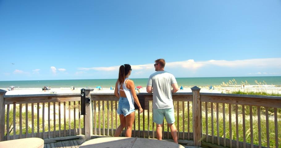 Cute Couple at Myrtle Beach, 4K