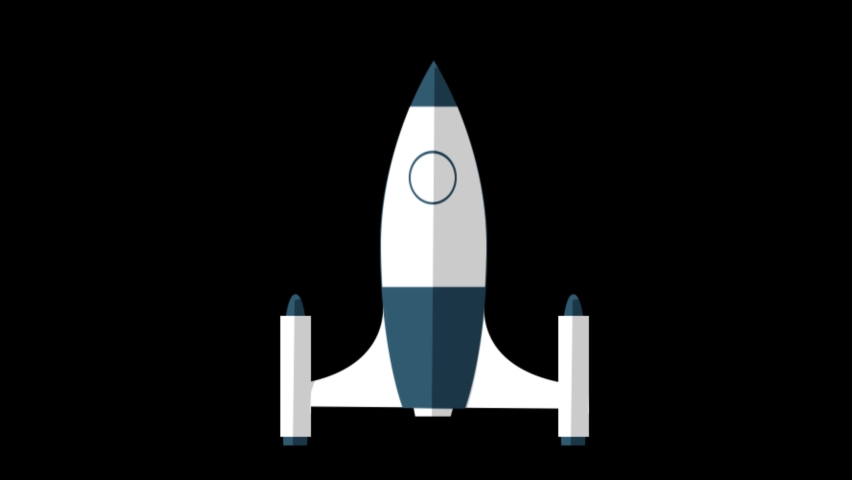Rocket Animated Icon. 4k Animated Icon to Improve Project and Explainer Video | Shutterstock HD Video #1062907702