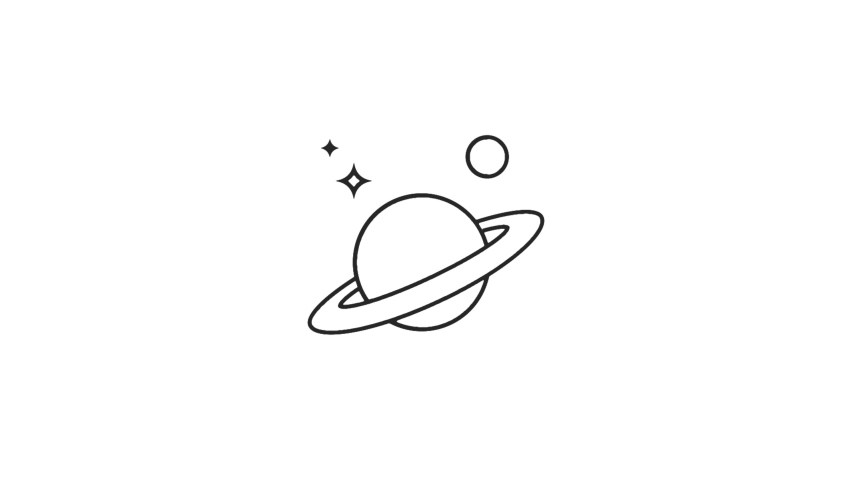 Astronomy Animated line Icon. 4k Animated Icon to Improve Project and Explainer Video | Shutterstock HD Video #1062912646