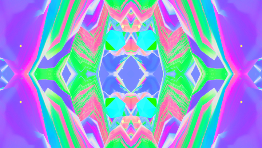 Looped abstract rainbow wave mountains kaleidoscope effect animation. | Shutterstock HD Video #1062913441