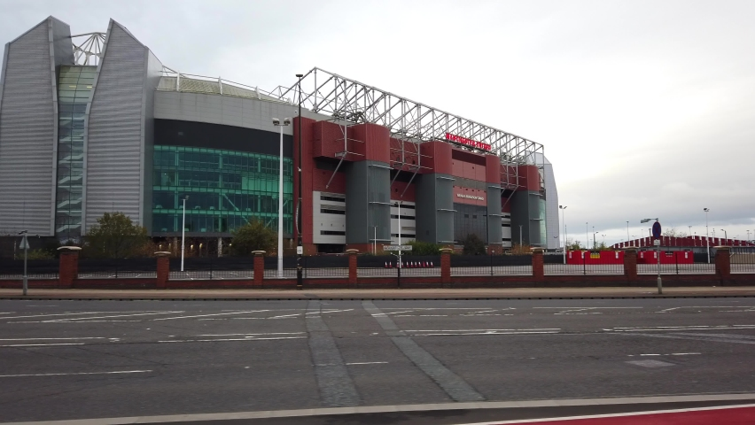 MANCHESTER, UK - 2020: Manchester United Football Clubs stadium, Old Trafford