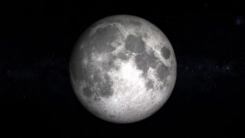 From full moon to moving new moon. Ultra realistic moon phases. Moon and stars in 3D. Video 4k | Shutterstock HD Video #1062928972