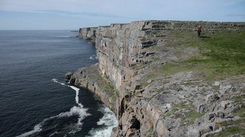 View from Dun Aengus in Inis Mor, Aran Islands, Ireland