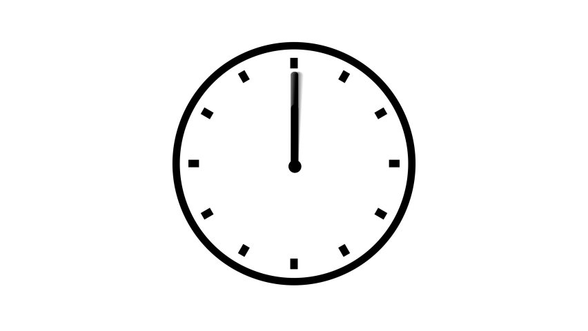 Clock Counting Down 24 Hour Day Fast Speed. Clock with moving arrows. Clock time lapse UHD 4K Animation.