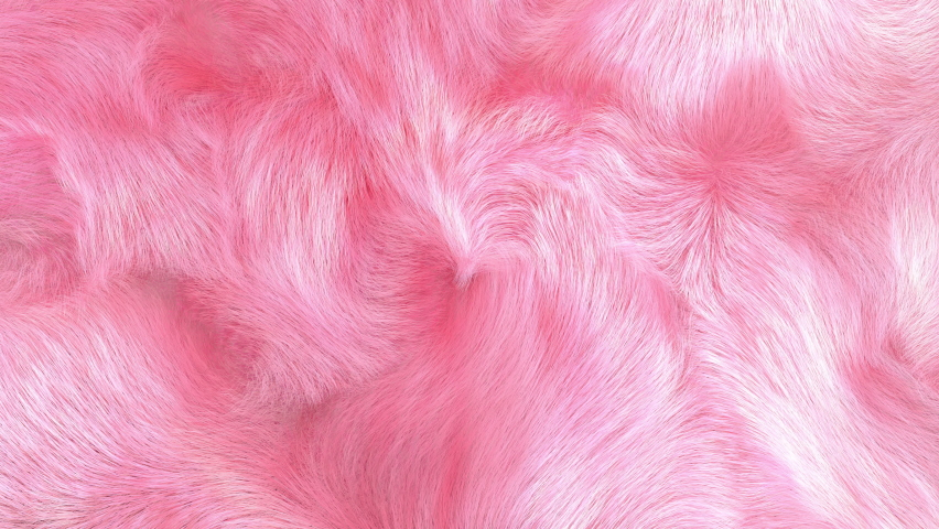 Pink plush fur background, 3D generated, gently waving, 4K. Royalty-Free Stock Footage #1062986755