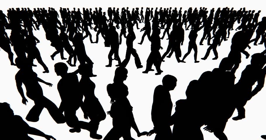 4k Crowd Of People walking,businessman silhouette. cg_02705_4k | Shutterstock HD Video #10629971