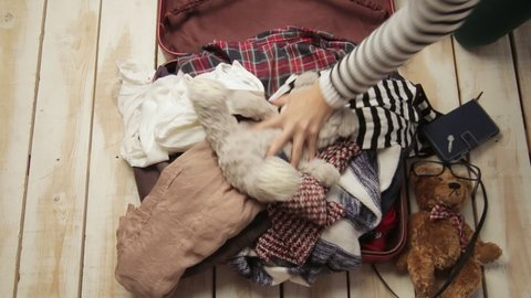 Girl Packing Stock Video Footage - 4K and HD Video Clips | Shutterstock