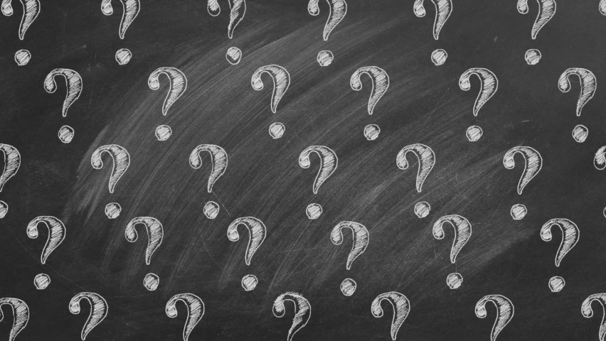 Question marks in chalk on a blackboard. Ask for help. FAQ concept. Asking questions. | Shutterstock HD Video #1063121005