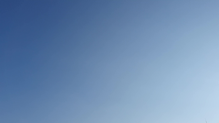 White clouds on blue sky background, design elements | Shutterstock HD Video #1063122130