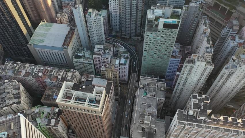 Hong Kong hazy harbour drone | Shutterstock HD Video #1063144540
