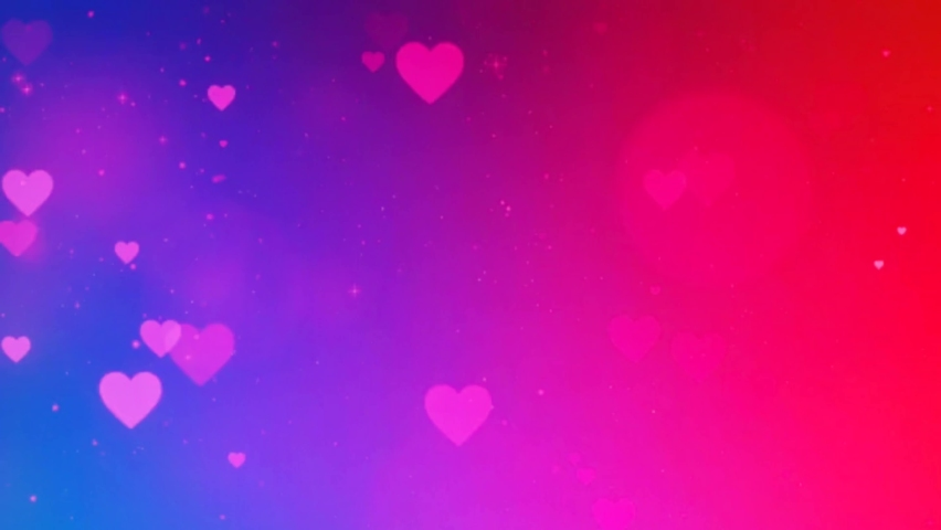Beautiful Heart and Love on Colorful background 3d Seamless footage 4K- Romantic colorful Glitter glowing and flying hearts .Romance, love, valentines day and birthday Invitation. | Shutterstock HD Video #1063254208