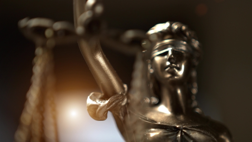 The Statue of Justice - lady justice, Justitia the Roman goddess of Justice Royalty-Free Stock Footage #1063272391